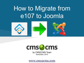 How to Migrate from e107 to Joomla