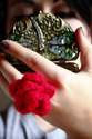 Crochet Rose Ring Tutorial MATERIALS: Yarn in...