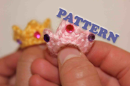 PATTERN Instant Crochet Tiara Princess Ring
