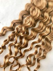 Curly Blonde Hair Extensions (Ash Blonde / Honey Blonde/color #27) – Prarvi Hair