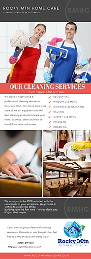 Rocky Mtn Home Care | Cleaning Service in Denver, CO | Visual.ly