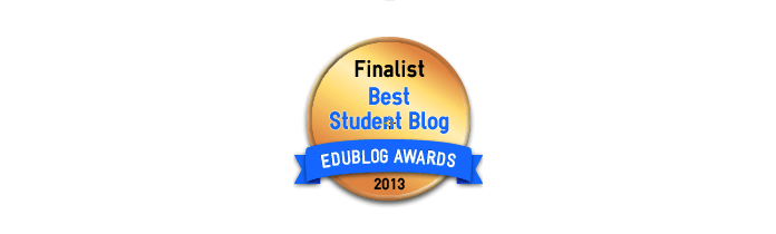 Headline for Best Student Blogs 2013 - Edublog Awards