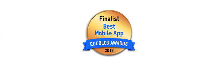 Headline for Best Mobile App for Education 2013 - Edublog Awards