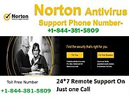 Norton Support 1-844-381-5809