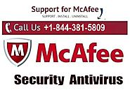 McAfee Technical Support Phone Number +1-844-381-5809