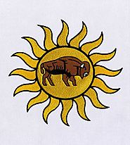 Pulsating Sun & Ox Embroidery Design | EMBMall