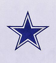 Sparkling Blue Star Machine Embroidery Design | EMBMall