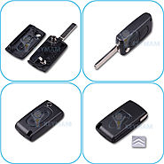 Buy Online Citroen 2 Button Flip Remote Key Shell