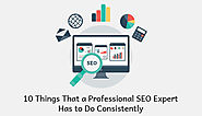 10 Things That a Professional SEO Expert has To Do Consistently