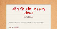4th Grade Lesson Ideas