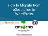 How to Migrate from b2evolution to WordPress