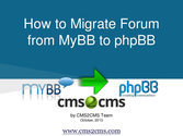 How to Migrate from MyBB to phpBB