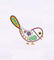 Captivatingly Precious Pink Bird Embroidery Design | EMBMall
