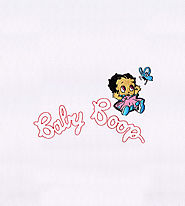 Charming Baby Boop Applique Embroidery Design | EMBMall