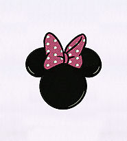 Bow Adorned Minnie Mouse Embroidery Design | EMBMall