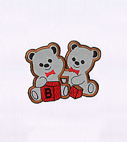 Blocks Playing Lovable Bears Applique Embroidery Design | EMBMall
