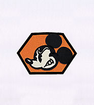Agitated Mickey Mouse Embroidery Design | EMBMall