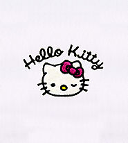 Adorably Winking Hello Kitty Embroidery Design | EMBMall