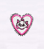 Adorable Marie from Artistocats Embroidery Design | EMBMall