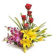 Buy Sweet Splendor Flowers Online Same Day Delivery - OyeGifts.com