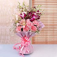 Send Colourful Bunch Online Same Day Delivery - OyeGifts.com