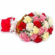 Buy/Send Multi Color Carnations Bouquet - YuvaFlowers