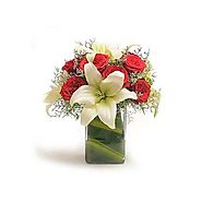 Buy/Send Rose N Lilies - Bouquet Online - YuvaFlowers.com