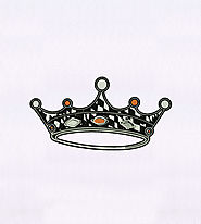 Jewels Adorned Monotone Crown Embroidery Design | EMBMall