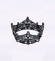 Exhaustively Beautiful Black Crown Embroidery Design | EMBMall