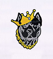 Daring Crown Adorned Rottweiler Dog Embroidery Design | EMBMall