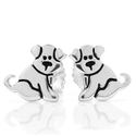 925 Sterling Silver Small Cute Puppy Dog Post Stud Earrings 11 mm Fashion Jewelry for Women, Teens, Girls - Nickel Free