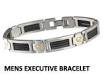 Q-Link Men's Executive Bracelet for EMF Protection