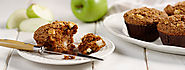Diet Recipe of Apple Muffins with Cinnamon-Pecan Streusel – IdietitianPro