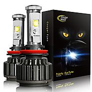 CougarMotor LED Headlight Bulbs All-in-One Conversion Kit - 9006 -7,200Lm 6000K Cool White CREE
