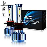 Automotive LED Headlight Bulbs 9005 Cree LED Conversion Kit 6000k Cool White (Lifetime Replacement Warranty) 9005