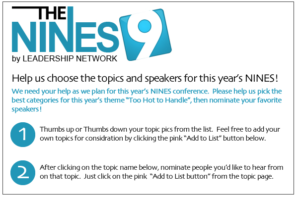 Headline for Your Topic Suggestions for The NINES (2012)