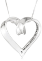 "Amazon.com: Sterling Silver ""A Mother Holds Her Childs Hand For A Short While and Their Hearts Forever"" Heart Pendant..."