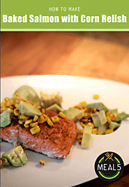 3. Baked Salmon with Corn Relish