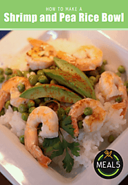 4. Shrimp and Pea Rice Bowl
