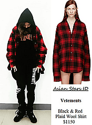 Vetements Black & Red Plaid Wool Shirt $1150
