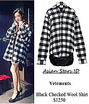 Vetements Black Checked Wool Shirt $1250