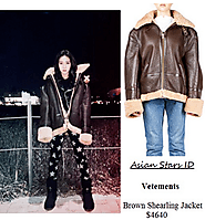 Vetements Brown Shearling Jacket $4640