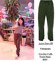Vetements Cut-Out Cuffs Track Pants $665