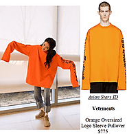 Vetements Orange Oversized Logo Sleeve Pullover $775