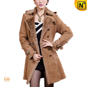 Women Shearling Lined Long Coat CW640213