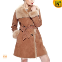 Women Sheepskin Shearling Fur Coat CW640232