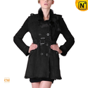 Luscious Women Sheepskin Shearling Pea Coat CW640280