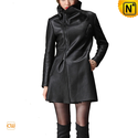 Black Shearling Coat for Women CW695102