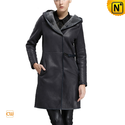 Women Hooded Shearling Coat CW640255