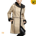 Shearling Hooded Coat for Women CW640251